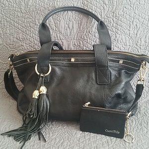 Cuore & Pelle Black Leather Amelia Bag